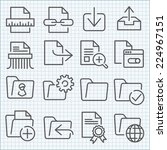 vector thin line icons set for... | Shutterstock .eps vector #224967151