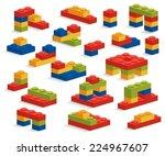 set of different plastic pieces ...