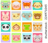 collection of cute animals over ...   Shutterstock .eps vector #224971045