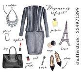fashion illustration. elegant... | Shutterstock . vector #224971399