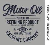 vintage gasoline typography  t... | Shutterstock .eps vector #224978551