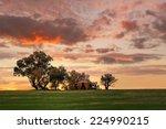 Australian Outback Sunset.  Ol...
