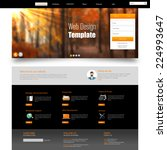 autumn theme website template | Shutterstock .eps vector #224993647