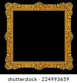 ornament frame of gold plated... | Shutterstock . vector #224993659