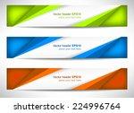 web header  set of vector... | Shutterstock .eps vector #224996764