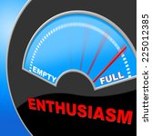 full of enthusiasm indicating... | Shutterstock . vector #225012385