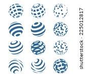 abstract sphere logo set. vector | Shutterstock .eps vector #225012817