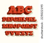 retro typeface font vector... | Shutterstock .eps vector #225022195