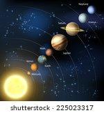 solar system illustration of... | Shutterstock .eps vector #225023317