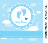 baby background with frame....   Shutterstock .eps vector #225023737
