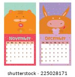 unusual calendar for 2015 with... | Shutterstock .eps vector #225028171