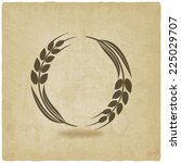 wheat old background  vector...   Shutterstock .eps vector #225029707