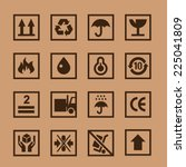 vector set icons cardboard | Shutterstock .eps vector #225041809