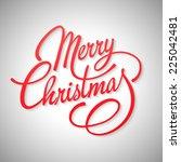 vector christmas card. merry... | Shutterstock .eps vector #225042481