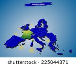 3 dimensional infographics map... | Shutterstock .eps vector #225044371