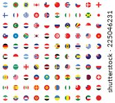 an illustrated set of world... | Shutterstock . vector #225046231