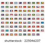 an illustrated set of world... | Shutterstock . vector #225046237