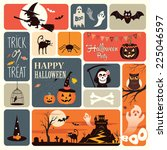 halloween card | Shutterstock .eps vector #225046597