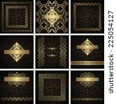 set of frames  cards ... | Shutterstock .eps vector #225054127
