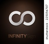 infinity concept symbol icon or ... | Shutterstock .eps vector #225056707