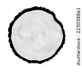 annual tree rings background. | Shutterstock .eps vector #225058861