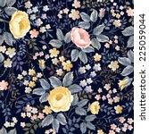 seamless floral pattern with... | Shutterstock .eps vector #225059044