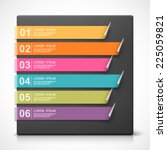 colorful bookmarks with options.... | Shutterstock .eps vector #225059821