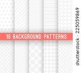 10 light grey seamless patterns ... | Shutterstock .eps vector #225059869