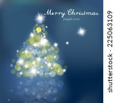 christmas tree with blurred... | Shutterstock .eps vector #225063109