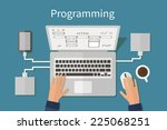 programming and coding  website ... | Shutterstock .eps vector #225068251