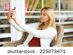 technology  mobile and people... | Shutterstock . vector #225073471