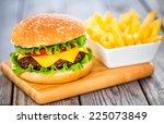 Tasty And Appetizing Hamburger...