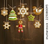 merry christmas holiday... | Shutterstock .eps vector #225080095