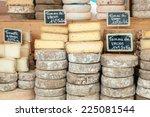 Farmer Cheese On Market Counter