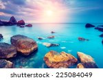 fantastic morning blue sea... | Shutterstock . vector #225084049