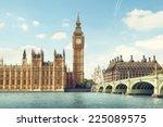big ben in sunny day  london | Shutterstock . vector #225089575