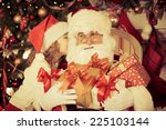 Santa Claus And Child At Home....