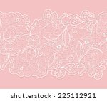 delicate white seamless lace... | Shutterstock .eps vector #225112921