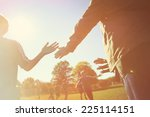 high five line after a child's... | Shutterstock . vector #225114151
