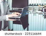 employer working in a office.... | Shutterstock . vector #225116644