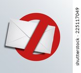 spam icon. envelope background.... | Shutterstock . vector #225117049