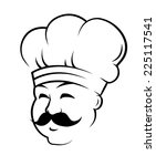 head of a smiling chef wearing... | Shutterstock . vector #225117541