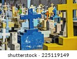 Tombstones And Crosses In A...