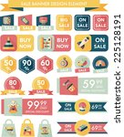 toy sale banner design flat... | Shutterstock .eps vector #225128191
