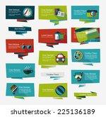 travel flat banner background... | Shutterstock .eps vector #225136189