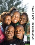 happy african mother and her... | Shutterstock . vector #22514953