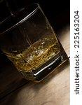 yellow golden alcoholic drink... | Shutterstock . vector #225163204