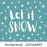 Handwritten Let It Snow Winter...