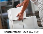 manual worker working with... | Shutterstock . vector #225167419