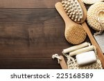 some bath accessories on the... | Shutterstock . vector #225168589